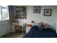 Light spacious loft double bedroom in friendly family house