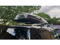 Mercedes roof box and bars