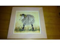 Sheep Picture, Framed
