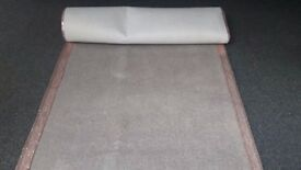 Wedding Aisle Carpet, dove grey and rose gold, up to 12m long