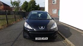 Peugeot 207 ; 12 MONTHS MOT; MILEAGE 59000; FULL SERVICE HISTORY