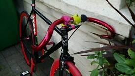 Fixed gear single speed road bike fixie