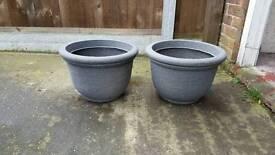 Florence pots granite 42 cm plastic