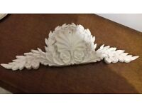Large Resin Acanthus Shell Wall Plaque (Faux Carved Wood / Plaster)