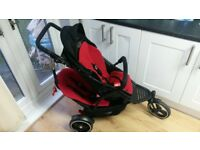 Twin pram stroller with raincover 130 no offers