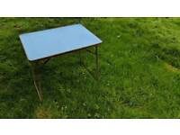 Retro 1960s metal fold up picknick/ camping table