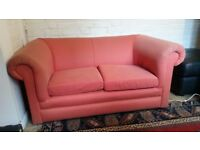 Lovely good condition 2 seater Terracotta Sofa - FREE to first come first serve Twickenham
