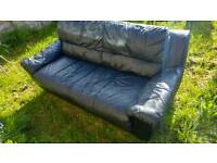 Faux leather sofa 3 seater, free to collect.