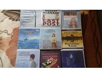 9 x Audio Talking Books, All CDs are Complete, 9 Fictions from Various Authors, Ideal When Driving