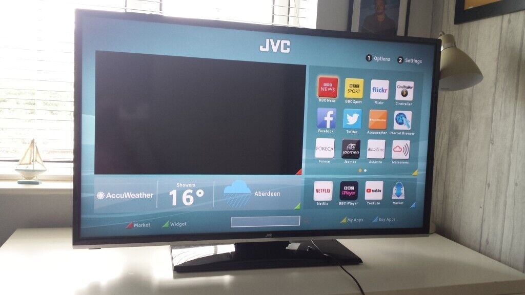 40 INCH JVC SMART TV ON STAND + REMOTE   in Rochester, Kent   Gumtree