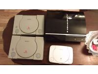 2 ps1s, 1 psone and 1 ps3 faulty no leads