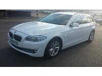 12 REG BMW 530D 3.0 5 SERIES SE TOURING CAR WHITE STOPSTART SATNAV LOADED EXTRAS 0 OWNERS FROM NEW