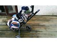 Golf clubs/bag/trolley