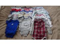Baby boy bodysuit/vest bundle 12-18 months
