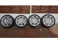 "Genuine 18"" A3 Sline double seven spoke alloys & Tires"