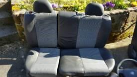 Corsa C half leather interior