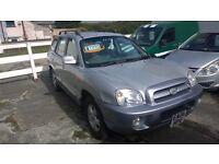 hyundai santa fe cdx crtd 2006 registration, 2000cc turbo diesel , only 137,000 miles