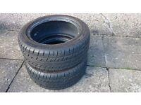 Matching pair part worn Prestivo Sport tyres - 205/50R16 - 7mm tread