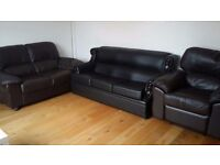 3 Piece sofa set with a separate 3 seater for sale