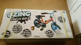 Zinc 12inch kids bike - BRAND NEW