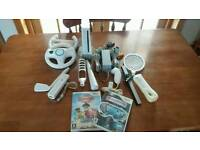 Nintendo Wii Console with Accessories and 2 Games
