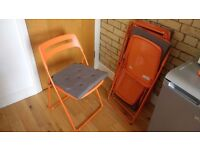 IKEA Nisse folding chairs with Justina cushions - ideal extra seating for guests, RRP £42.50