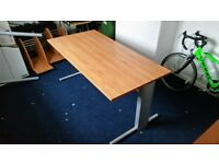Office Desk Brown Wood 160x80x72 Perfect Condition - Warrington