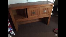 Solid oak console table £50