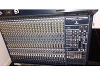 Behringer 24 channel studio mixer