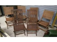 6 garden chairs fold away new
