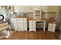 3 piece bedroom set dressing table, chest drawers vanity mirror
