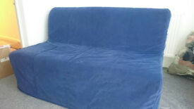 Lycksele Murbo 2 seater Sofa bed blue cover as good as new.