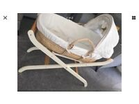 Moses basket & stand in Excellent condition