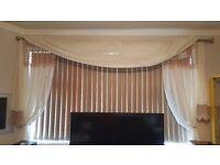 Vertical blinds brown