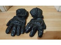 Thick leather motorcycle gloves - Size XL