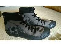 Skull goth punk boots
