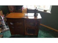 Wilcox Gibbs sewing machine in original cabinet