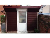 Concrete Shed with Double-Glazed Door (free to collect)