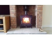 12kw BOILER STOVE + FREE DELIVERY WILL HEAT 2-3 BEDROOM HOUSE multi fuel wood burner