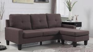 HOLIDAY SPECIALS ON NOW 2PC SECTIONAL WITH REVERSIBLE CHAISE $349  LOWEST PRICES GUARANTEED