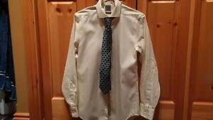 men's lime dress shirt and tie