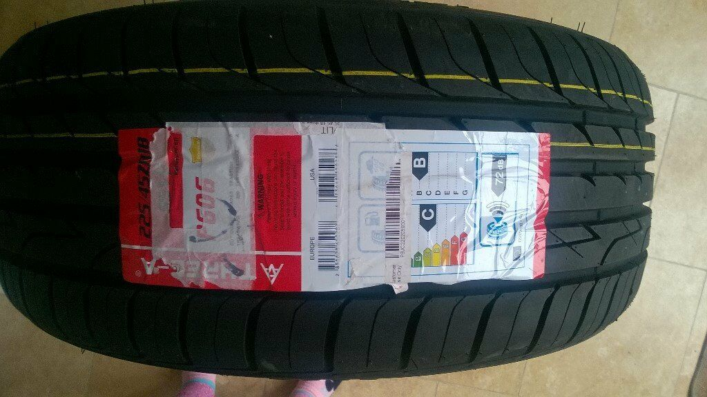 X4 225 45 18 95W THREE-A TYRES WITH AMAZINS C,D RATINGS