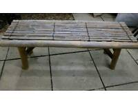 Small bamboo bench