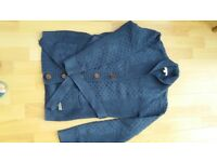 Barbour Cardigan, denim blue.