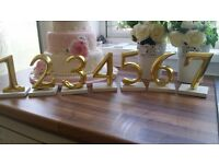 WEDDING TABLE NUMBERS 1-7