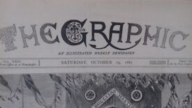 5 Old Antique Newspapers THE Graphic 1881-1882