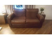 2 leather reversable settee