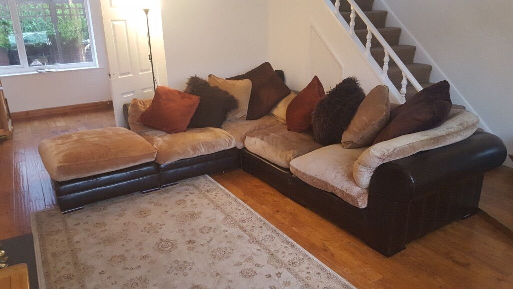Large Corner Sofa Modular Rrp 3500 By Dfs Tetrad Leather Hemmingway Hemingway Brown Dark Red