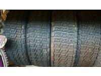 rally tyres 2 different sets