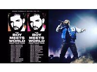 Drake Tickets Birmingham - The Boy Meet World Tour 2017 - x3 Tickets - Can buy 1,2 or 3